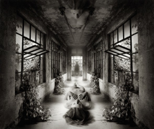 "JERRY UELSMANN, SELF REFLECTION, 2009, GELATIN SILVER PRINT, 20"" X 16″"