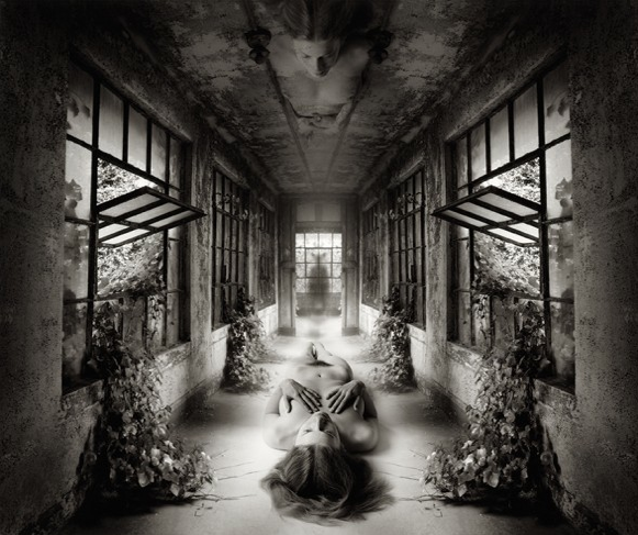 "JERRY UELSMANN, SELF REFLECTION, 2009, GELATIN SILVER PRINT, 20"" X 16?"