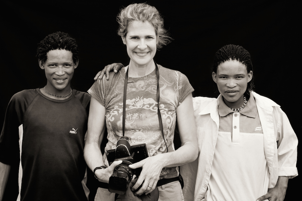 Dana Gluckstein on location in Botswana