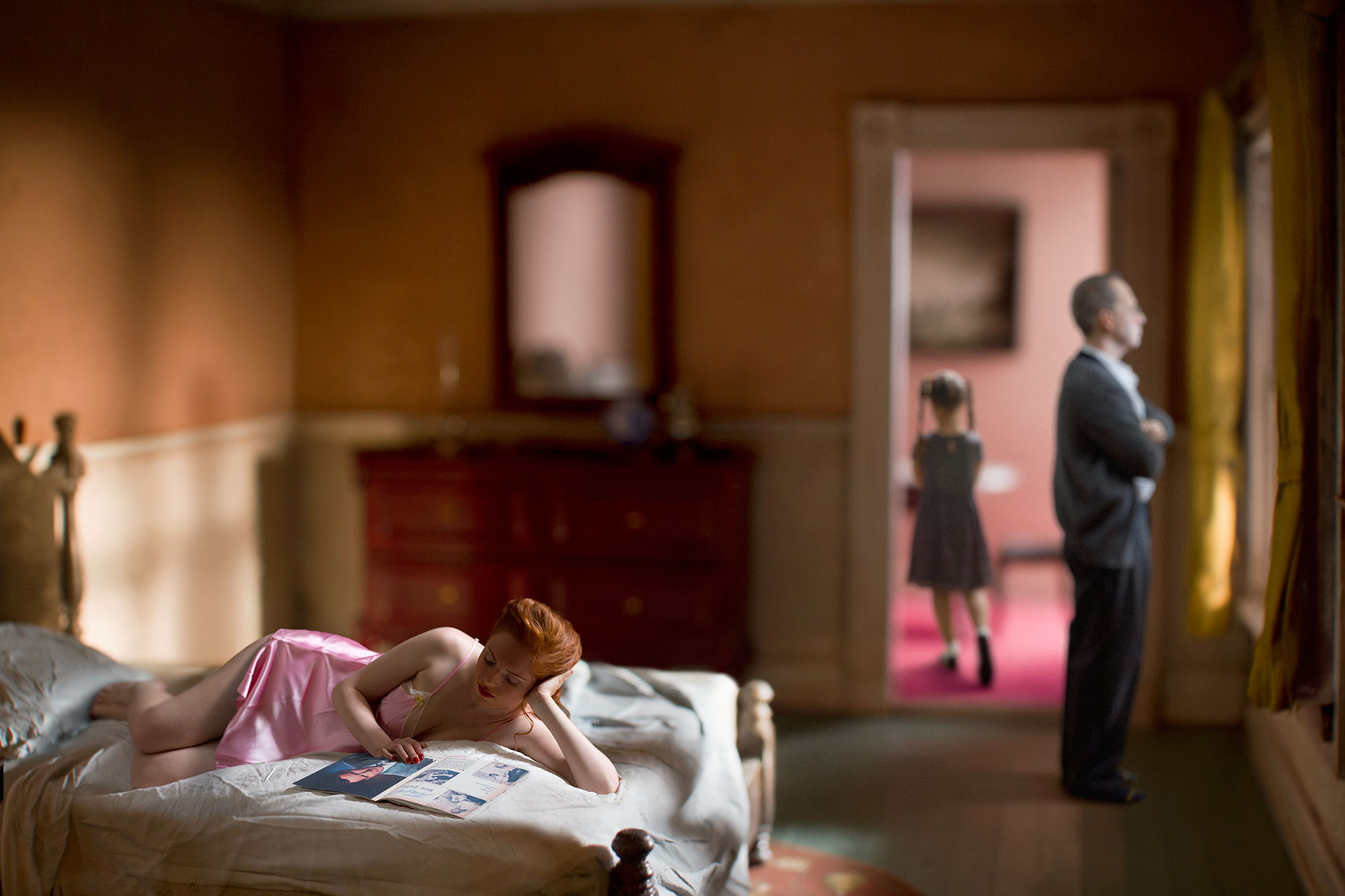 """""""Pink Bedroom (Family),"""" 2013, from the series """"Hopper Meditations"""""""